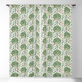 William Morris Tree of Life Pattern, Green & Multi Blackout Curtain
