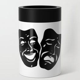 Theater Masks of Comedy and Tragedy Can Cooler