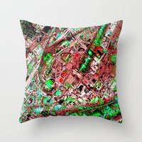 los angeles Throw Pillows featuring los angeles by donphil
