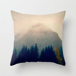 Only God Can Make a Tree Throw Pillow