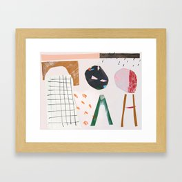 cut out play Framed Art Print