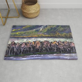 The Train Whistle Echos in Glenwood Canyon Rug