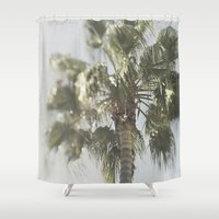 palm tree Shower Curtains featuring Palm Tree by Pure Nature Photos
