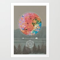 fault Art Prints featuring Fault by RJ Creative