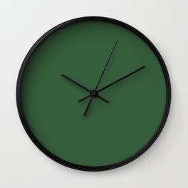 Hunter Green - solid color Wall Clock