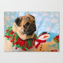 Christmas Pug 2 Canvas Print