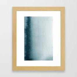 Teal Vertical Blur Abstract Art Framed Art Print