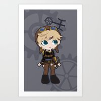 Steampunk Sailor Uranus - Sailor Moon Art Print