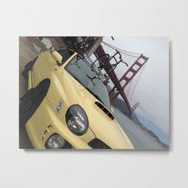 Mellow Blazed Bridge Metal Print