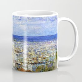 Classical Masterpiece 'View of New York from Fort George' by Frederick Childe Hassam Coffee Mug