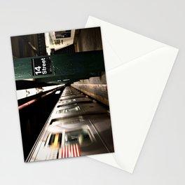 Speeding Subway Train Stationery Cards