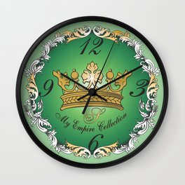 My Empire Collection Summer Set mint green Crown Wall Clock