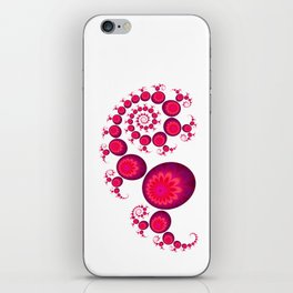 Pretty Pink Paisley on White iPhone Skin