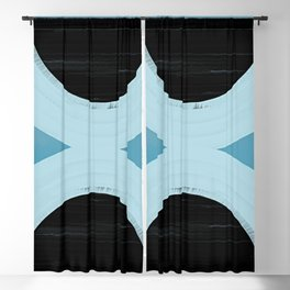 Balance - Mid-Century Modern Abstract Blackout Curtain