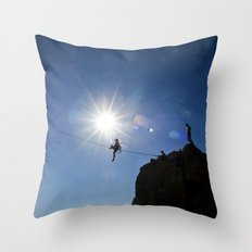 Highlining California Throw Pillow