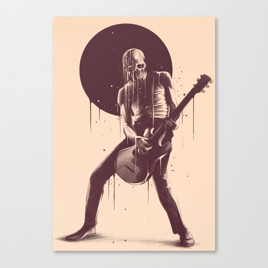 Face Melting Canvas Print