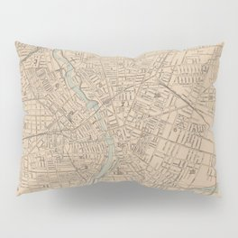 Vintage Map of Rochester NY (1895) Pillow Sham