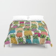 West Coast pineapples Duvet Cover
