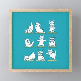 West Highland Terrier Yoga Framed Mini Art Print