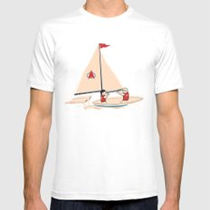 Sailing Towards Future Unknowns X-LARGE White Mens Fitted Tee