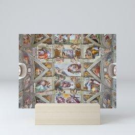 "Michelangelo ""Sistine Chapel ceiling"", Mini Art Print"