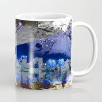 brooklyn bridge Mugs featuring Brooklyn Bridge by Robin Curtiss