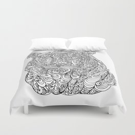 The power of the tiger Duvet Cover