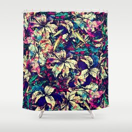 Watercolor Dragon Lilies  Shower Curtain