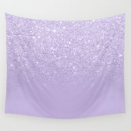 Stylish purple lavender glitter ombre color block Wall Tapestry