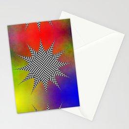 Modern Checkered Plasma Stationery Cards