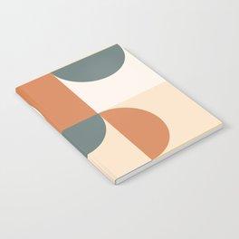 Mid Century Modern Geometric 23 Notebook