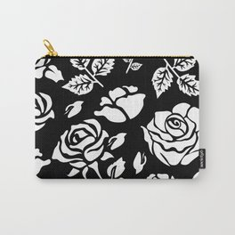 White Rose #illustration #pattern Carry-All Pouch