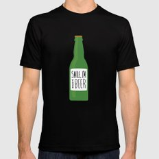 Smile, I'm your beer Black Mens Fitted Tee MEDIUM