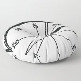 Ancient Compass Floor Pillow