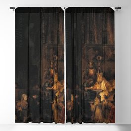 Rembrandt - Circumcision, copy after part of the Passion series for Frederik Hendrik Blackout Curtain