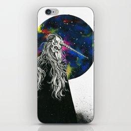 Unicorn girl Galaxy version iPhone Skin