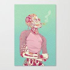 Nostalgic Lady Canvas Print