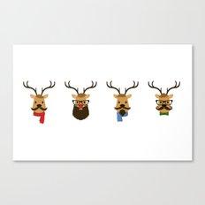 Hipster Reindeer Canvas Print