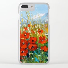 Summer poppies Clear iPhone Case