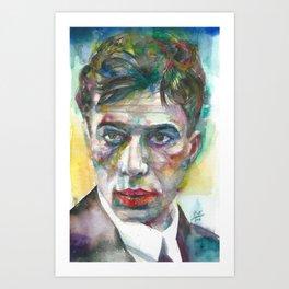 BORIS PASTERNAK - watercolor portrait.1 Art Print
