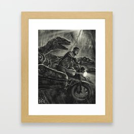 Run with the raptors Framed Art Print