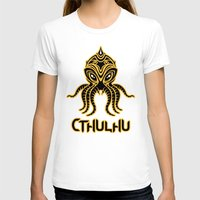 return T-shirts featuring Cthulhu return by Enrique Valles