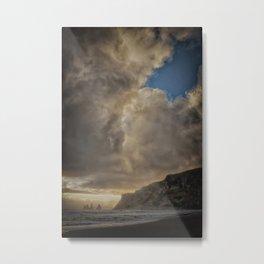 Vik beach. Metal Print