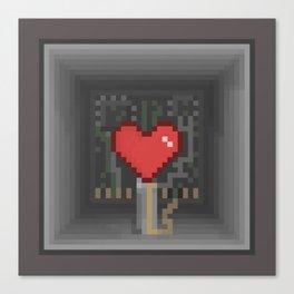 Pixel Heart Inside Canvas Print