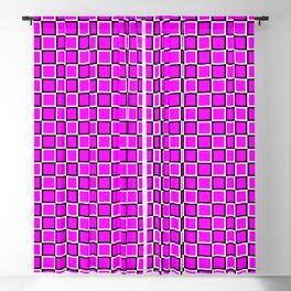 Pink geometric pattern. Squares. Tile design Blackout Curtain