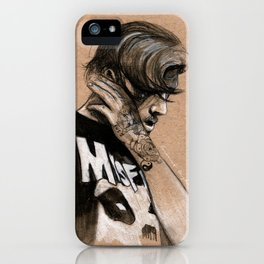 Zayn Charcoal sketch iPhone Case