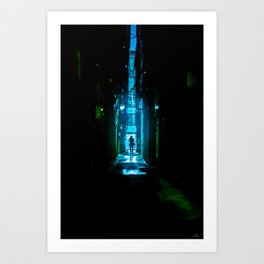 Replicant in the Rain Art Print
