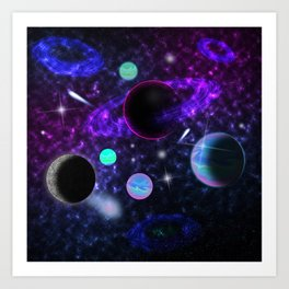 My Lover Is From Outer Space Art Print