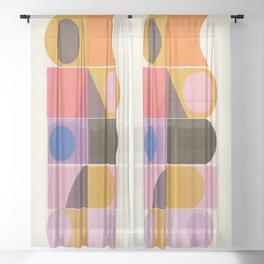 Modern Totem  #society6 #buyart #decor Sheer Curtain