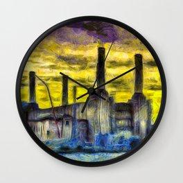 Battersea Power Station Van Gogh Wall Clock